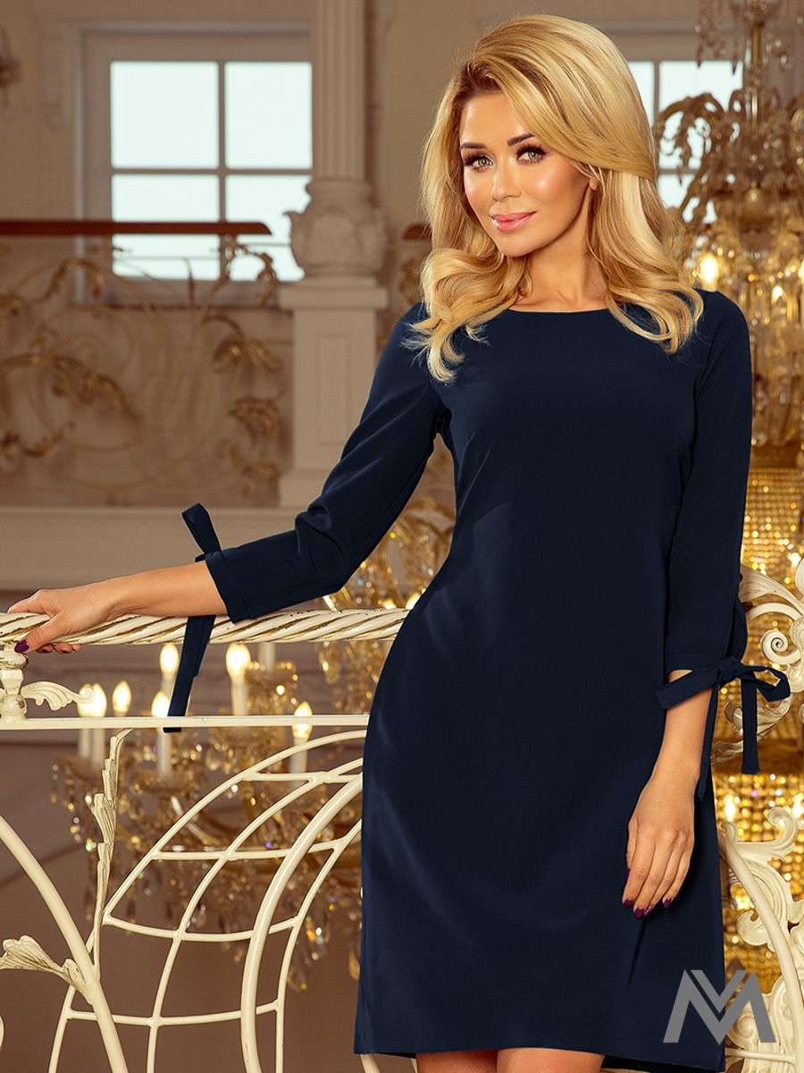 6ec800bb00f5b Elegantné dámske šaty Alice 195-5 tmavo modré | ModneVeci.sk