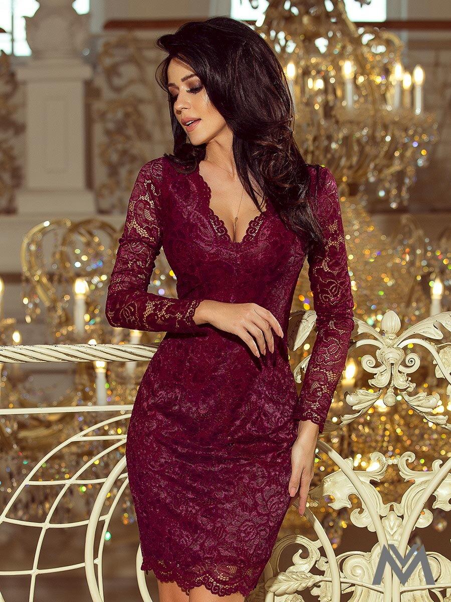 e43c667e2ebc Čipkované dámske šaty 170-5 bordo
