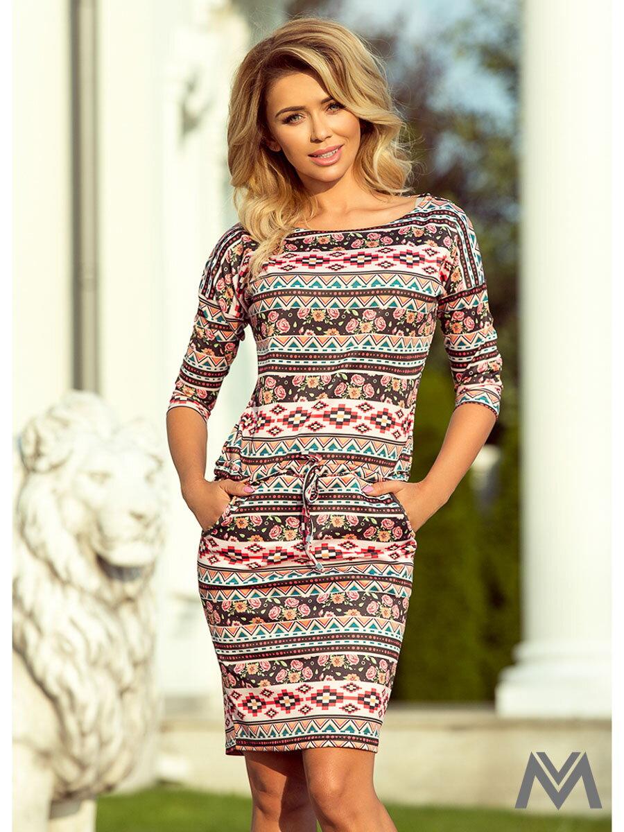 e3514a610e Dámske šaty 13-94 s farebným vzorom