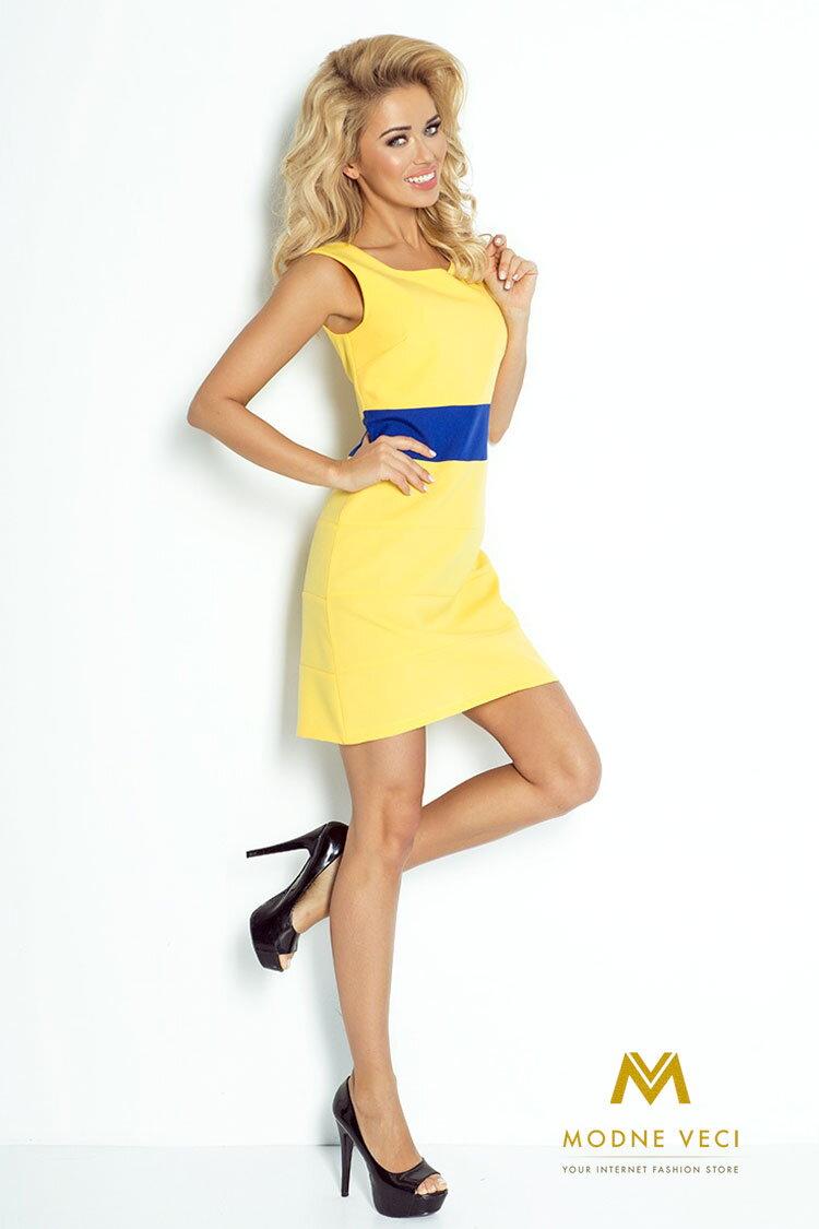 Krásne šaty bez rukávov na leto žlté 102-1 ... a2b42682a3