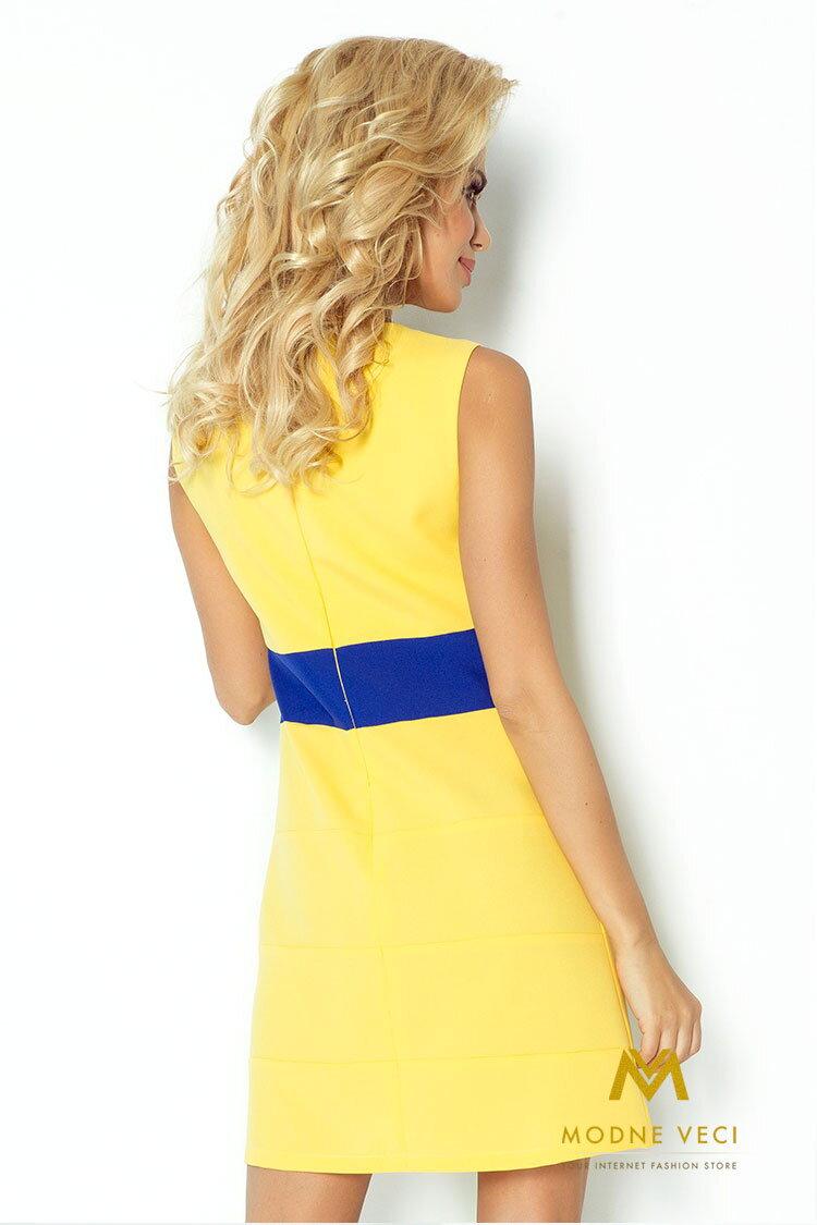 cd0f6582c9ba Krásne šaty bez rukávov na leto žlté 102-1 ...
