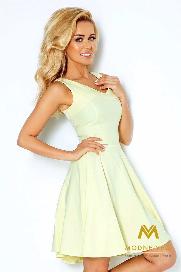 68459244b331 Slávnostné šaty 114-2 pastelovo žlté