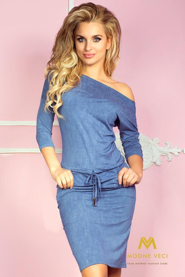 a85704fd3f2d Krásne športové šaty - svetlý jeans 13-20