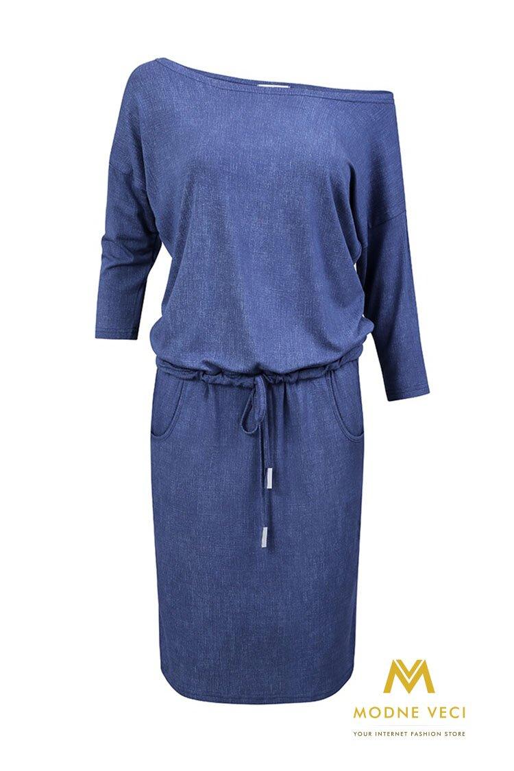 c1e95ca13351 Krásne športové šaty - svetlý jeans 13-20