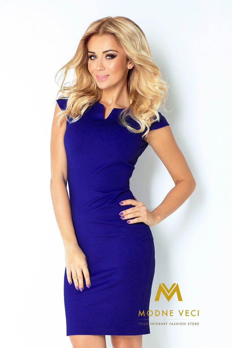 Kráľovsko modré puzdrové šaty 132-1 74e8f4645d2