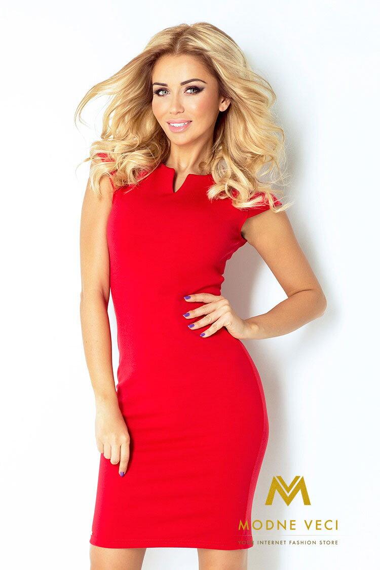 c3ae7f1d4799 Červené puzdrové šaty 132-2