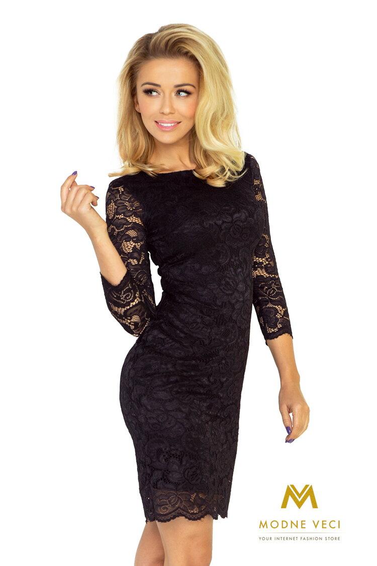 Krásne čipkované večerné šaty 145-1 čierne šaty ... 5966cbae407