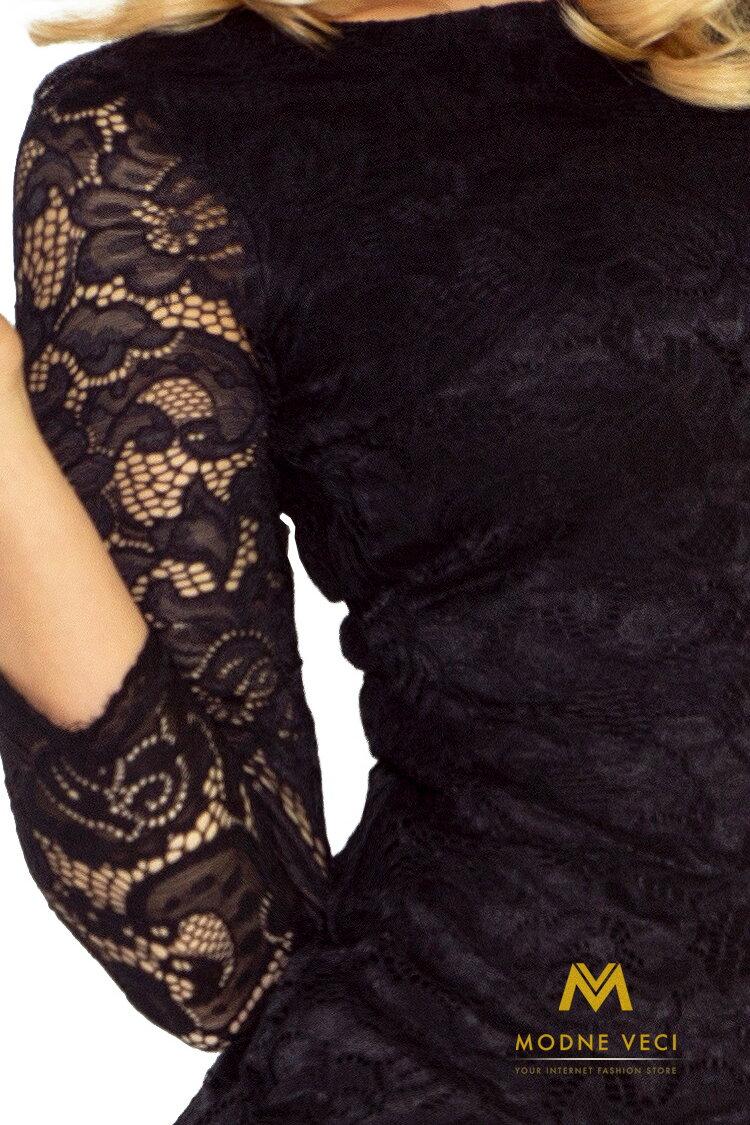 3d2c0a573930 Krásne čipkované večerné šaty 145-1 čierne šaty ...