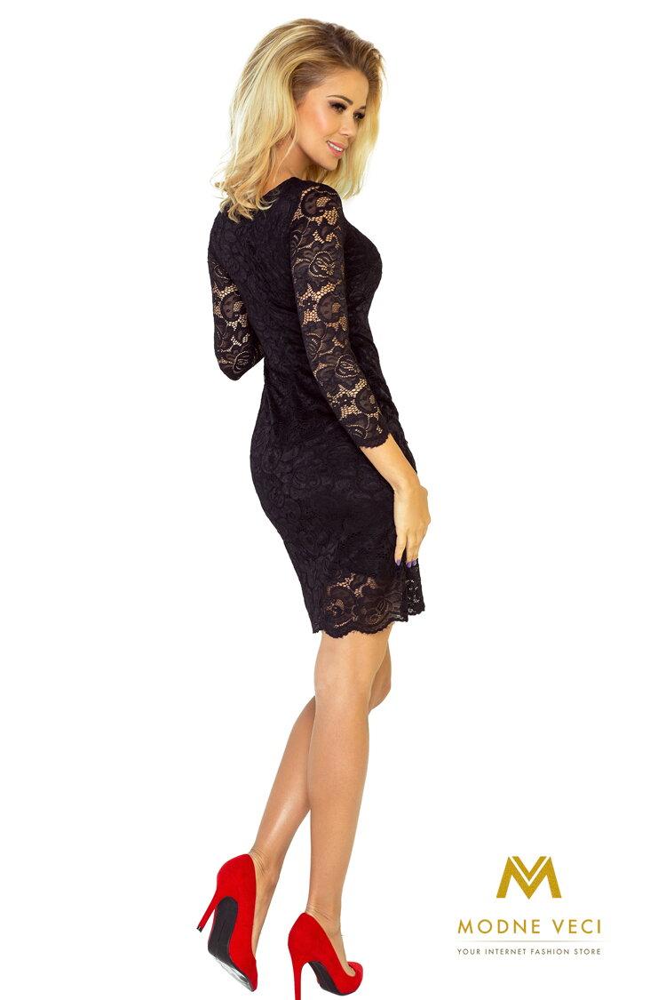 ea539892a133 Krásne čipkované večerné šaty 145-1 čierne šaty spolocenske ...