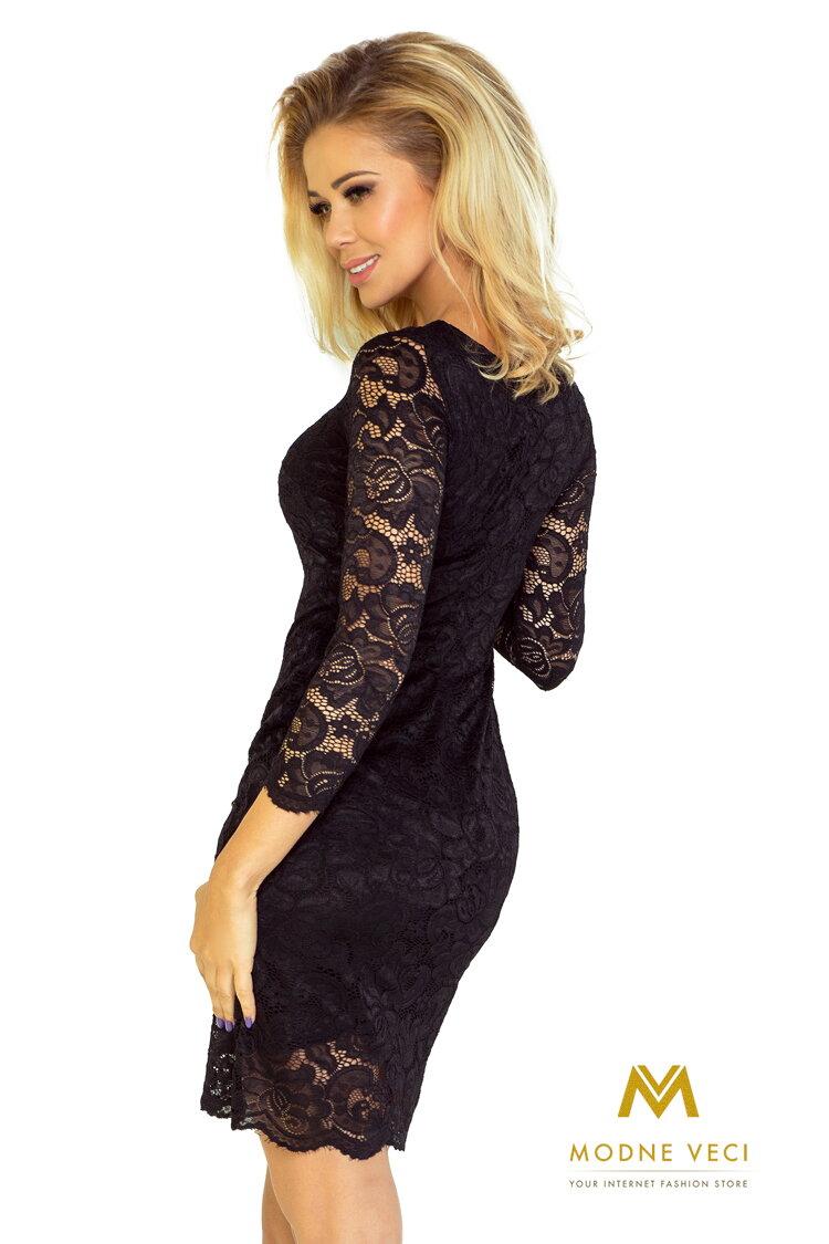 7412e3ec731b Krásne čipkované večerné šaty 145-1 čierne šaty