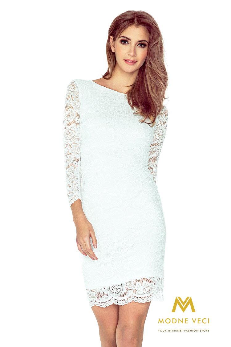 31526501e37a Čipkované šaty 145-3 biele