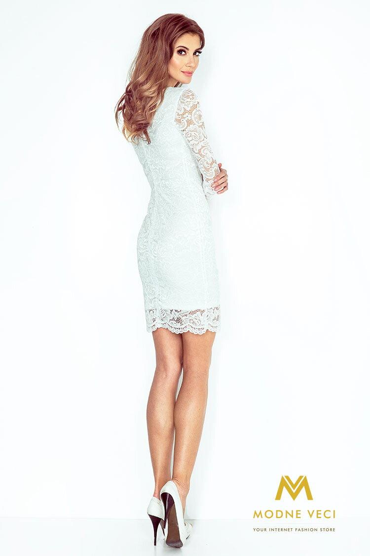 7bd7a5df7a6b Čipkované šaty 145-3 biele spolocenske ...