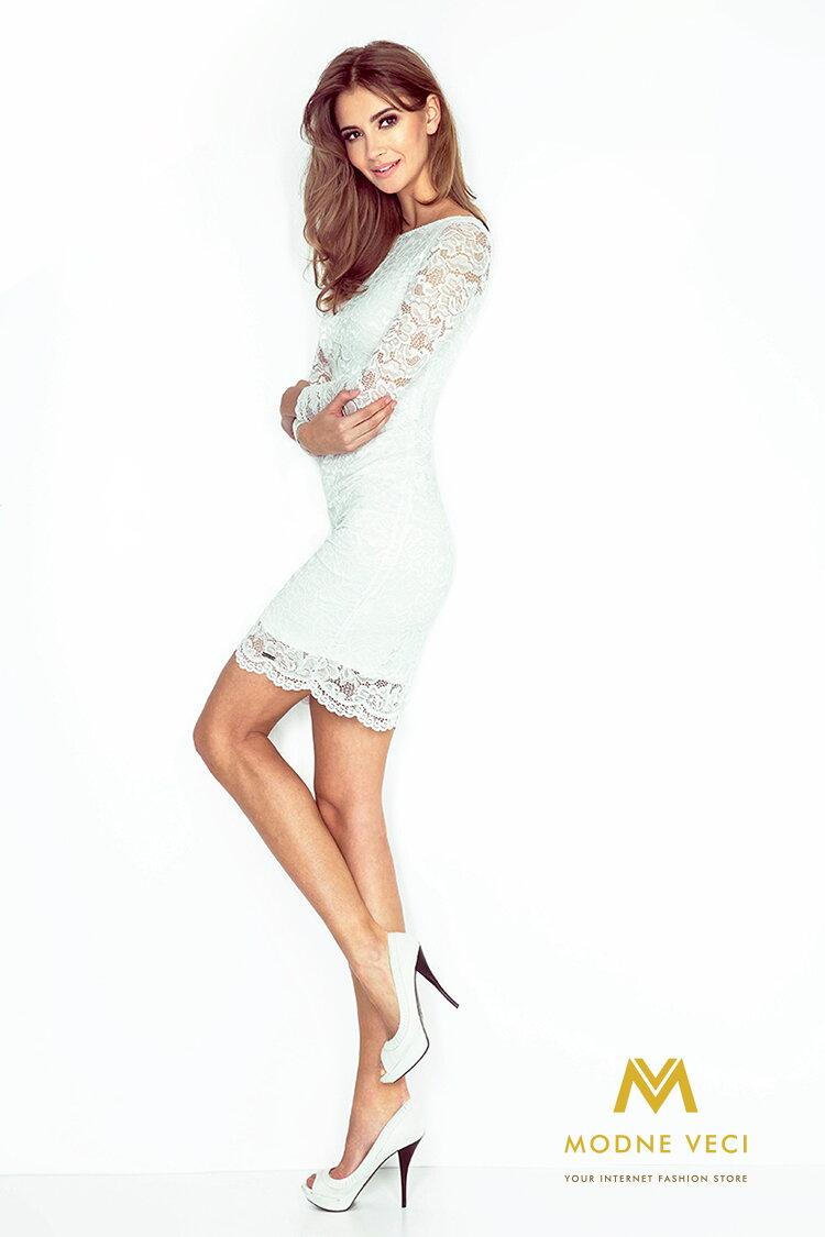 3228afbe6 Čipkované šaty 145-3 biele spolocenske saty ...