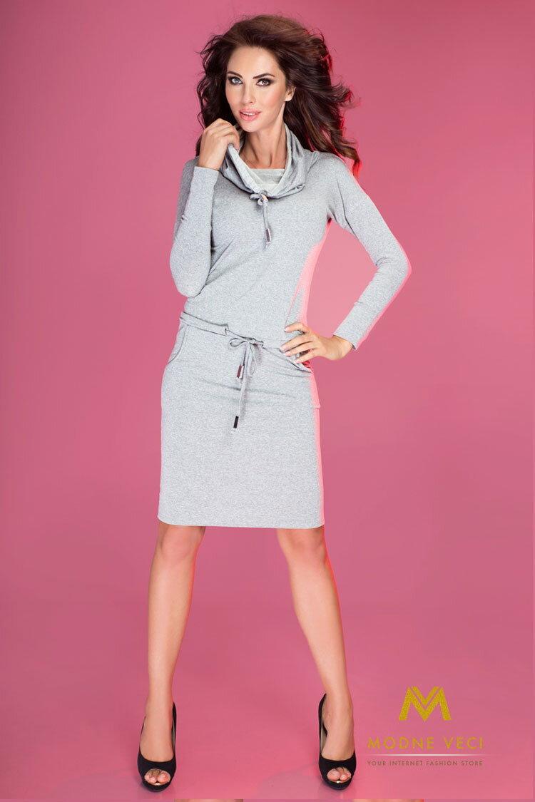 46899e5f9b89 Dámske športové šaty - 44-11 sivé