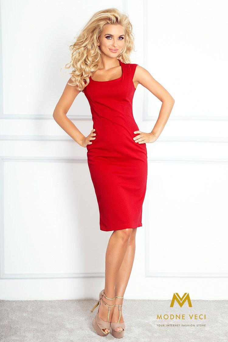 Luxusné dámske červené šaty 53-1 ... 1b7e0e7214c