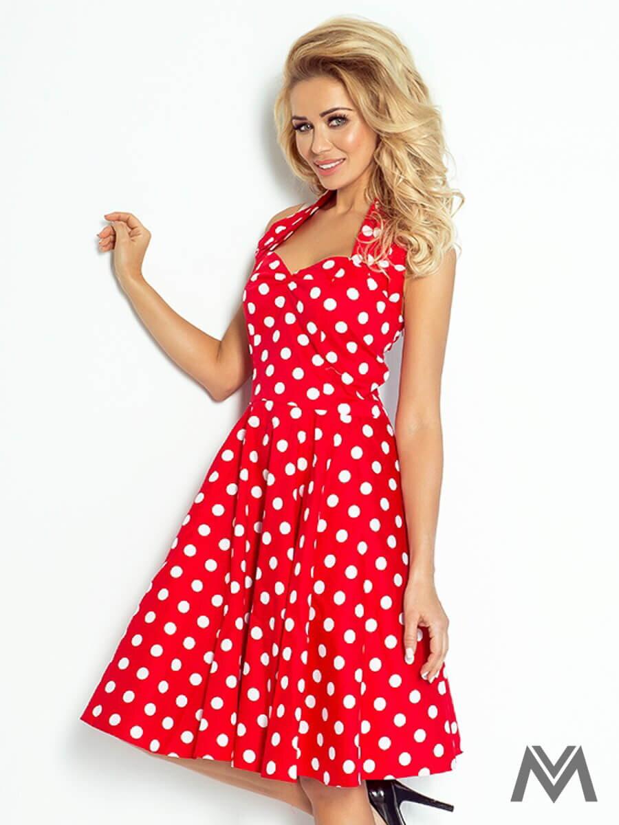c4932ee3b3f7 Dámske retro šaty 30-12 červeno biele