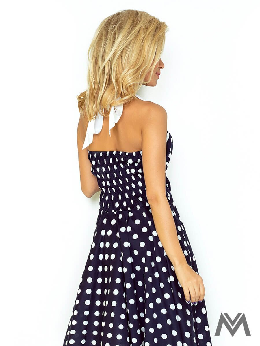 5894434a83d1 Dámske retro šaty 30-20 modro biele