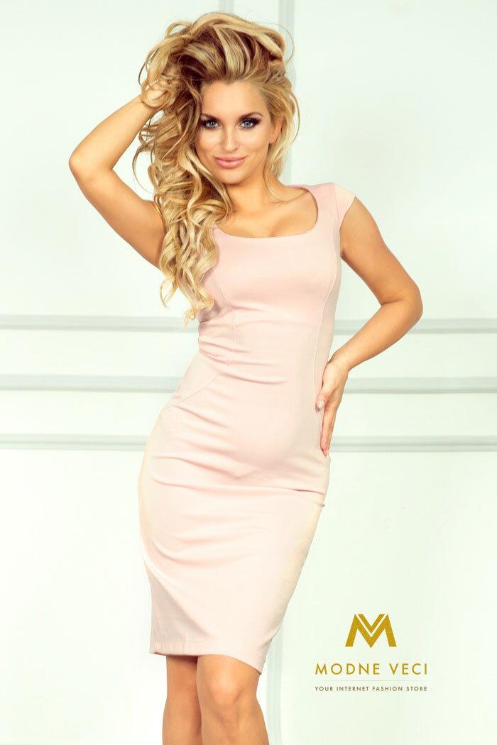 Puzdrové ružové šaty 53-6A 4fdb0fadde2