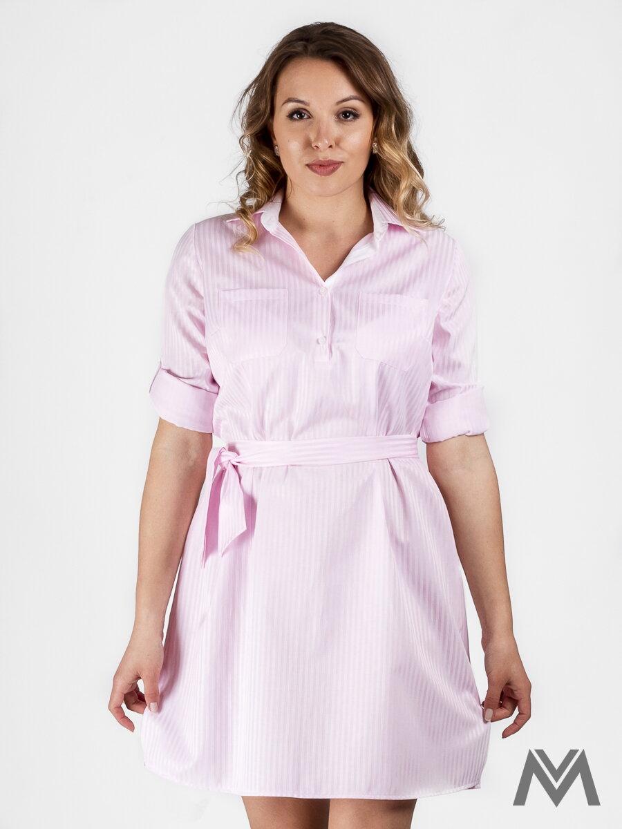 c4f79d70daaf Dámske košeľové šaty VS-DS 1842 ružové