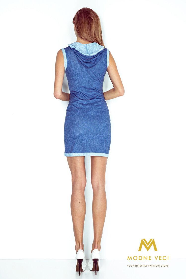 3f74fa7e4571 Športové šaty s kapucňou 009-2 svetlomodré