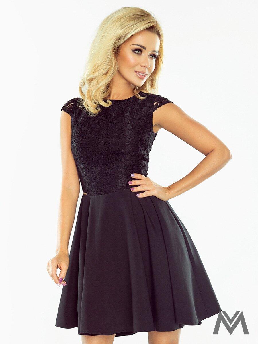 6bd04d8d7bb1 Dámske spoločenské šaty MARTA čierne 157-2