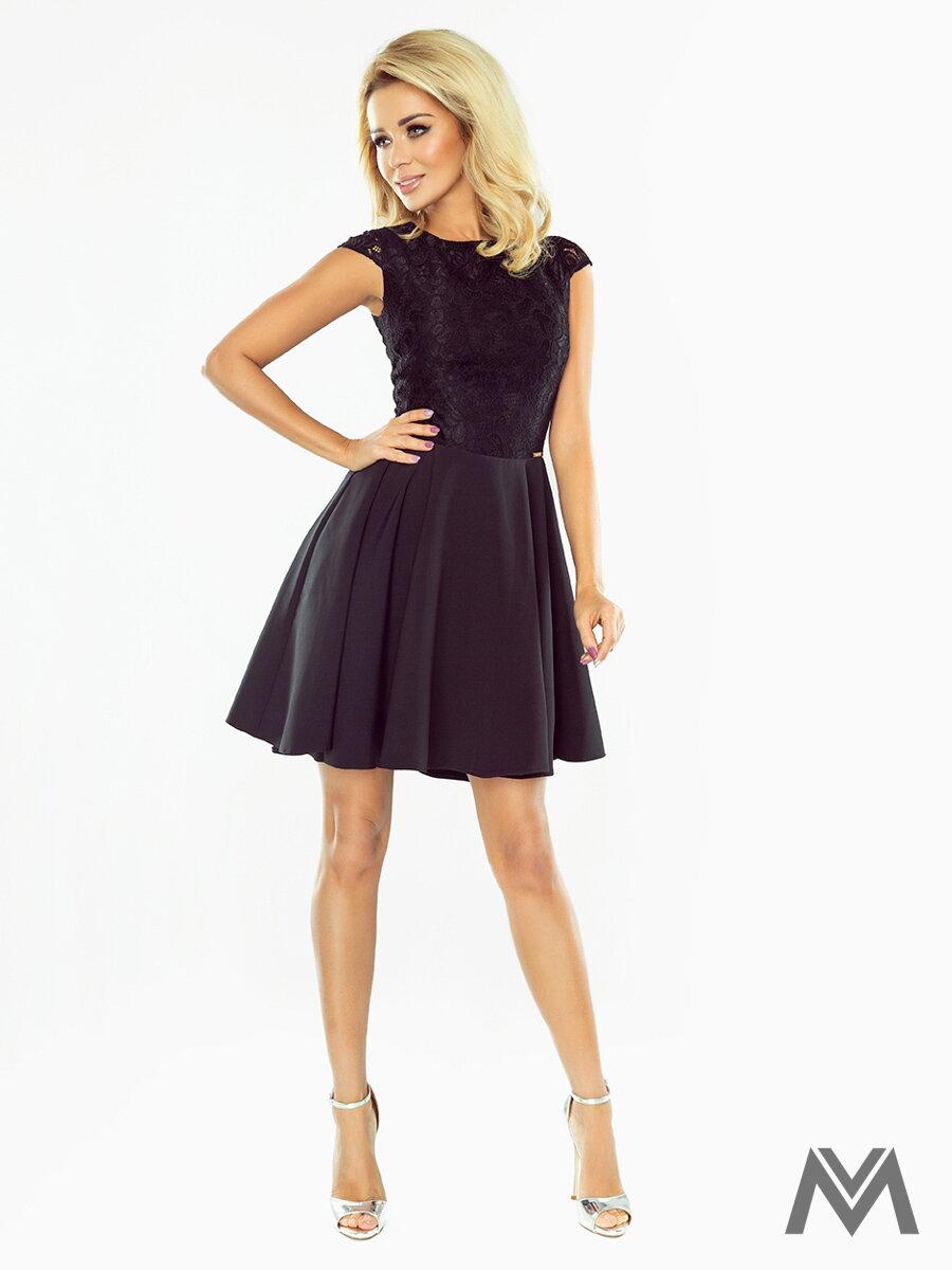c2b0f46ba0f9 Dámske spoločenské šaty MARTA čierne 157-2 ...