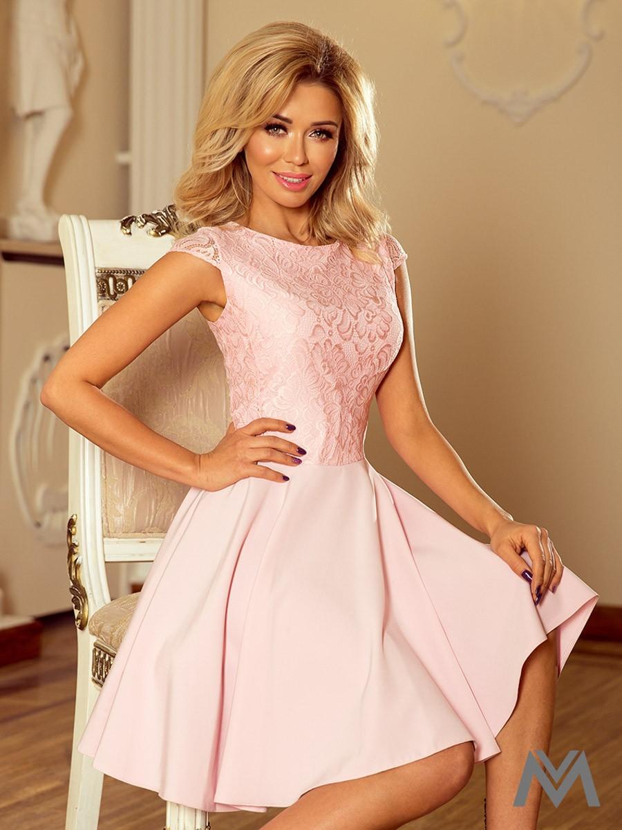 c9ac33fde018 Dámske spoločenské šaty MARTA ružové 157-4