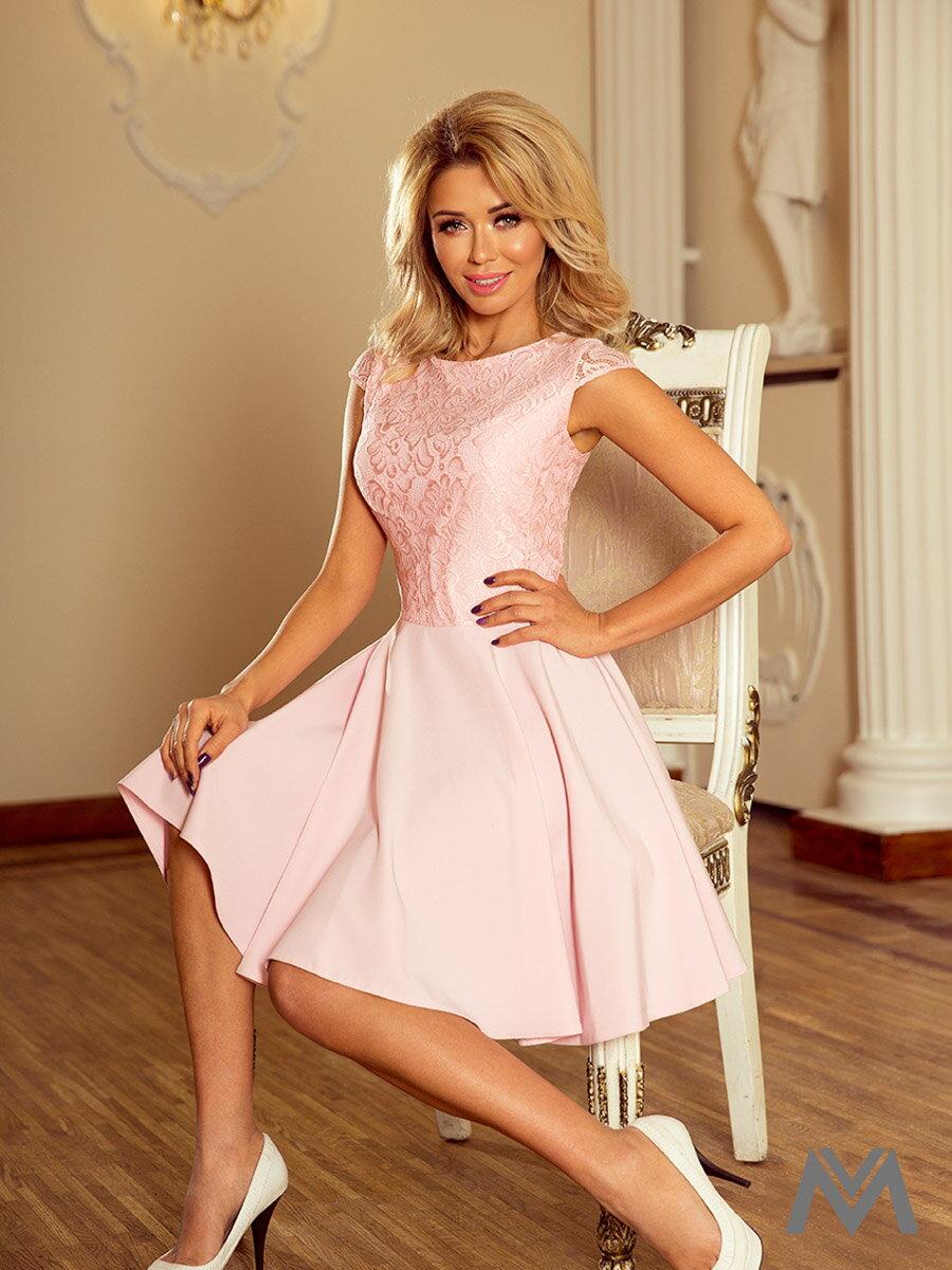 a6bd4805cdf9 Dámske spoločenské šaty MARTA ružové 157-4 ...