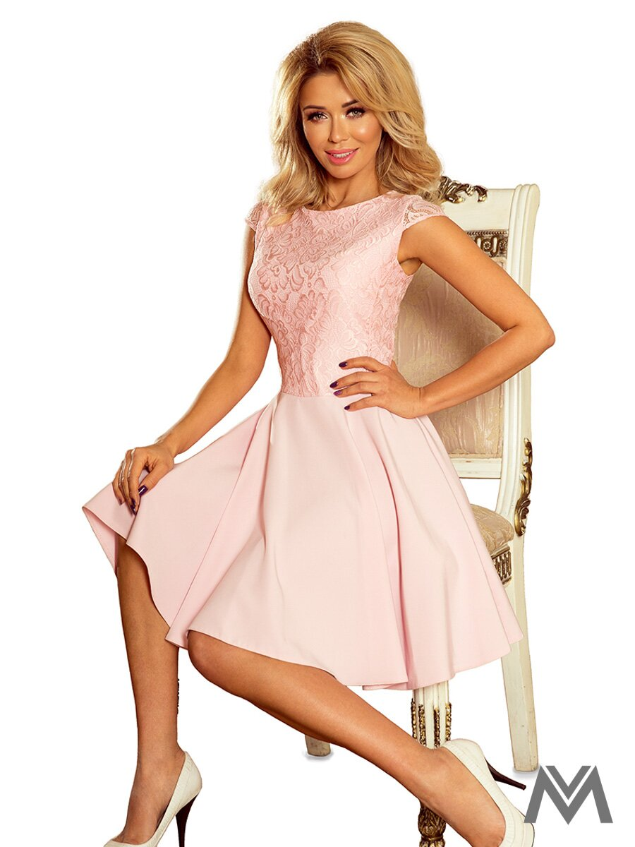 5e02a18d5e1 Dámske spoločenské šaty MARTA ružové 157-4 ...