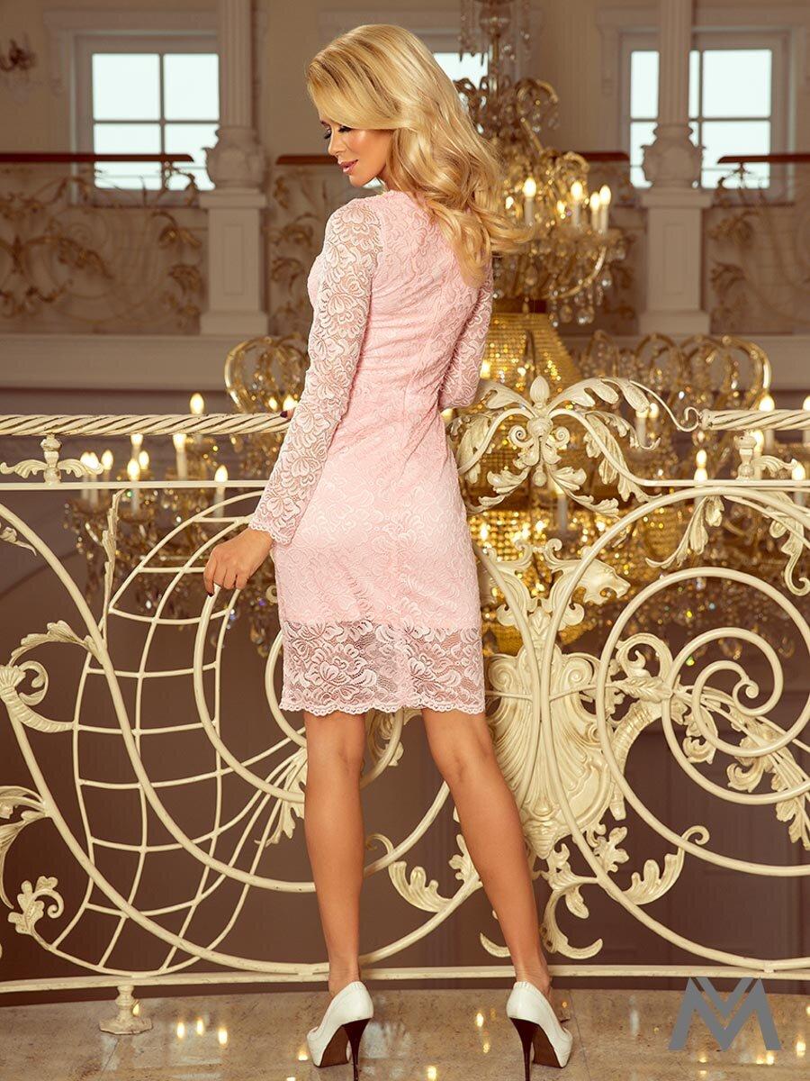 Damen Langarm Kleid 170-4 rosa  ModischeSachen.de 999a576d15