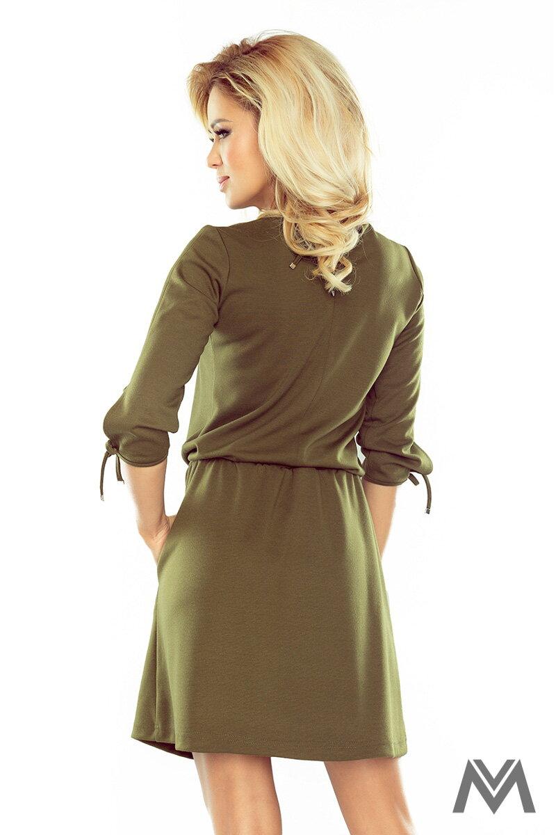 9e18e22a2e4f Dámske športové šaty s väzbami na rukáve vo vojenskej farbe 176-2- military  štýl ...