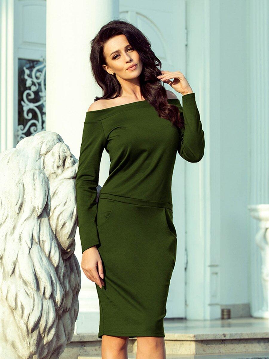 52a2fe7aa326 Dámske puzdrové šaty RAYA 225-1 zelené