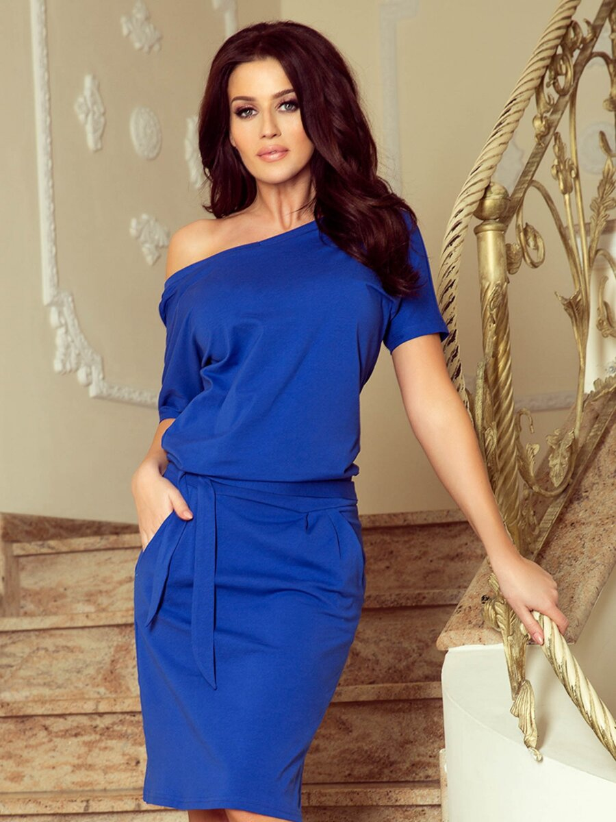 3168d6e78dc6 Dámske Retro šaty 249-1 modré