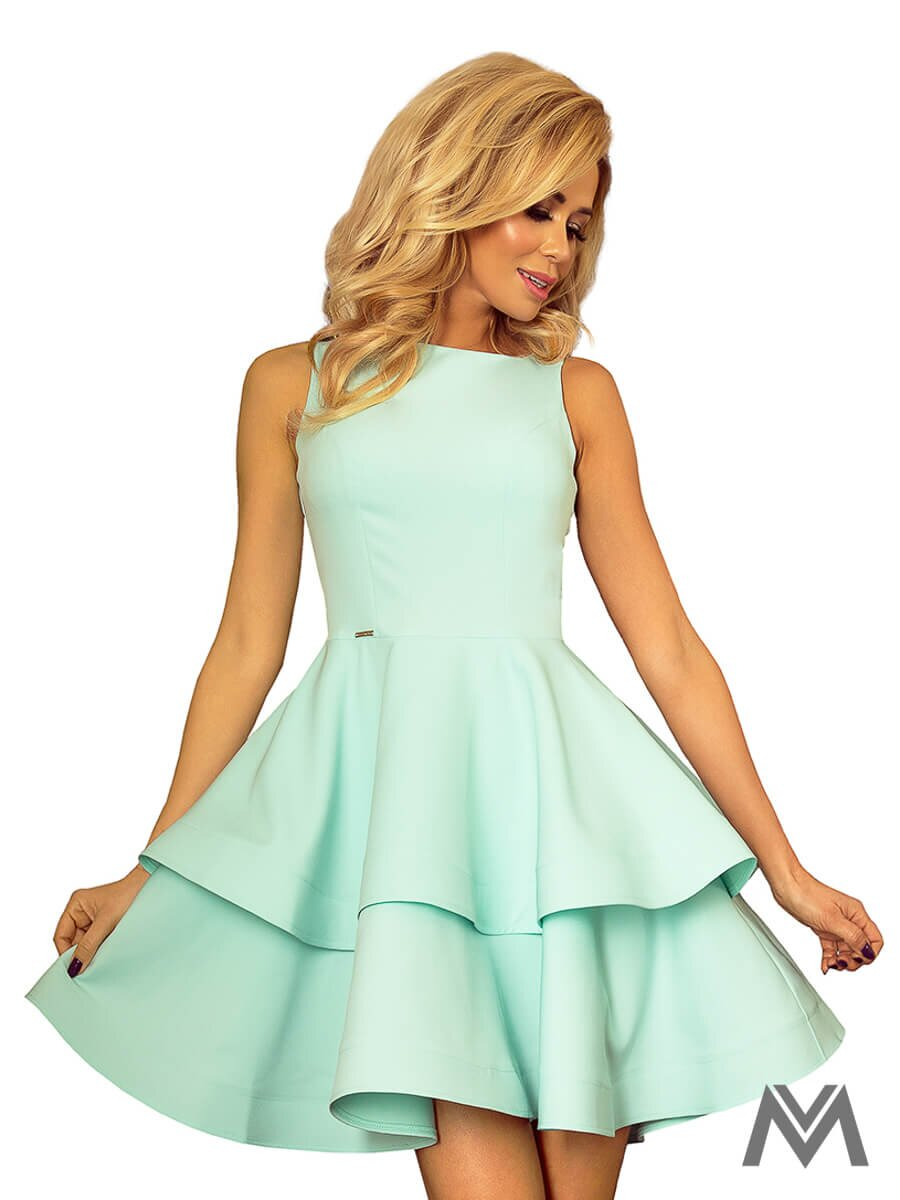 4816ad96c4bb Dámske šaty 169-4 v mentolovej farbe ...