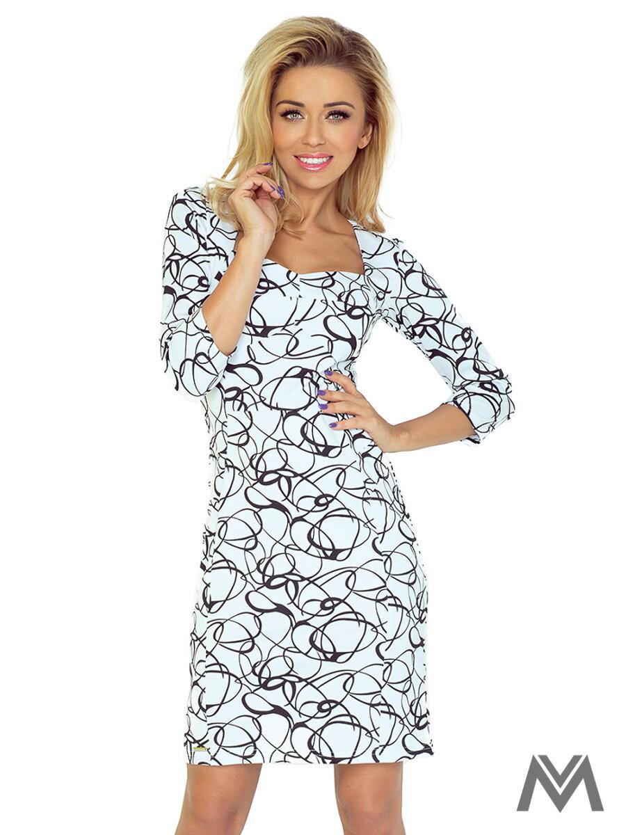 e470a82618a5 Elegantné dámske šaty 136-1 s geometrickým vzorom
