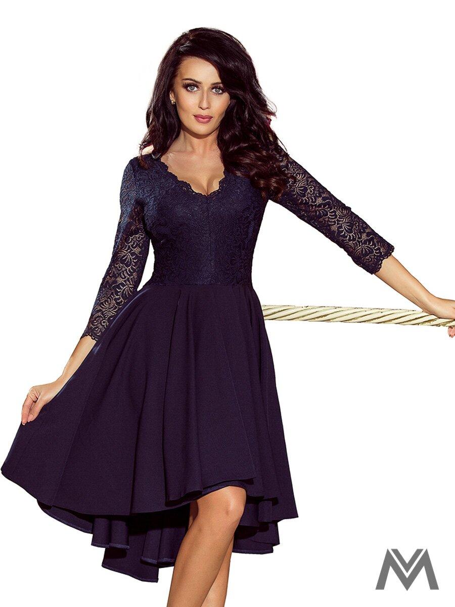 Elegantné dámske šaty 210-2 tmavomodré elegantné šaty 60242c82291
