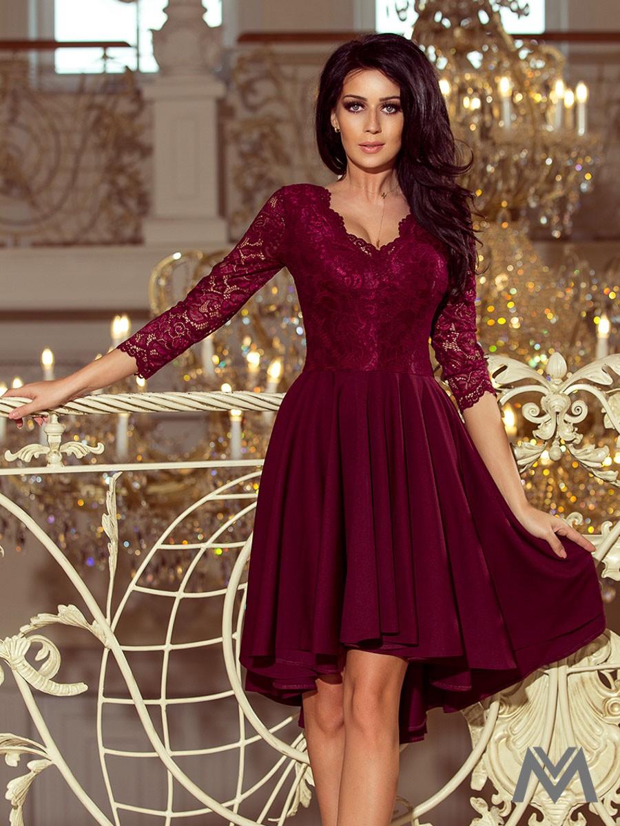 fab68930c64f Elegantné dámske šaty 210-1 bordo