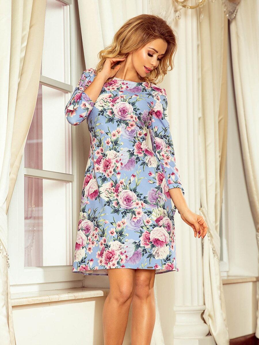 8d4040b46828 Elegantné dámske šaty Alice 195-9 Kvetinové