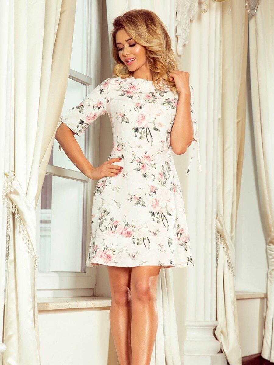 63e5b9c7d016 Nádherné elegantné dámske šaty 235-1 Kvetinové