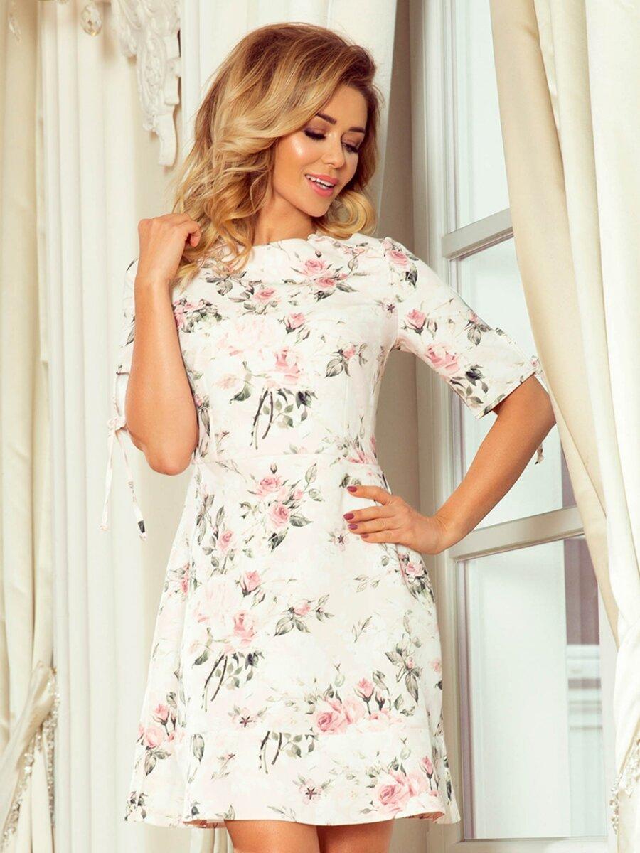 f3e362bf50ca Nádherné elegantné dámske šaty 235-1 Kvetinové