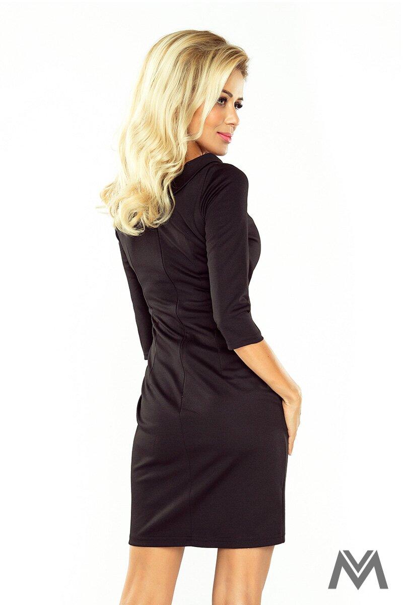 40e2c5ae4a63 Klasické čierne púzdrové šaty LENA 154-1