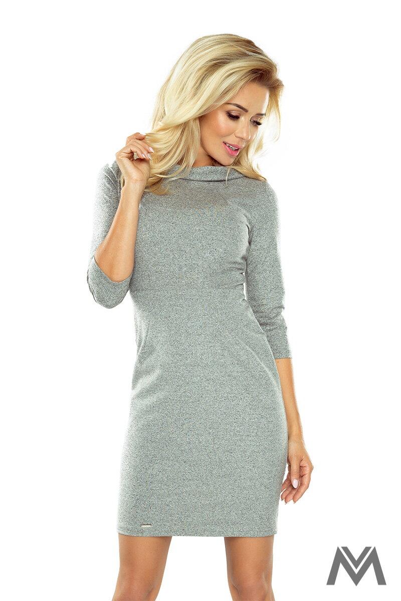 67abc58470b0 Ceruzkové šedé šaty LENA 154-2