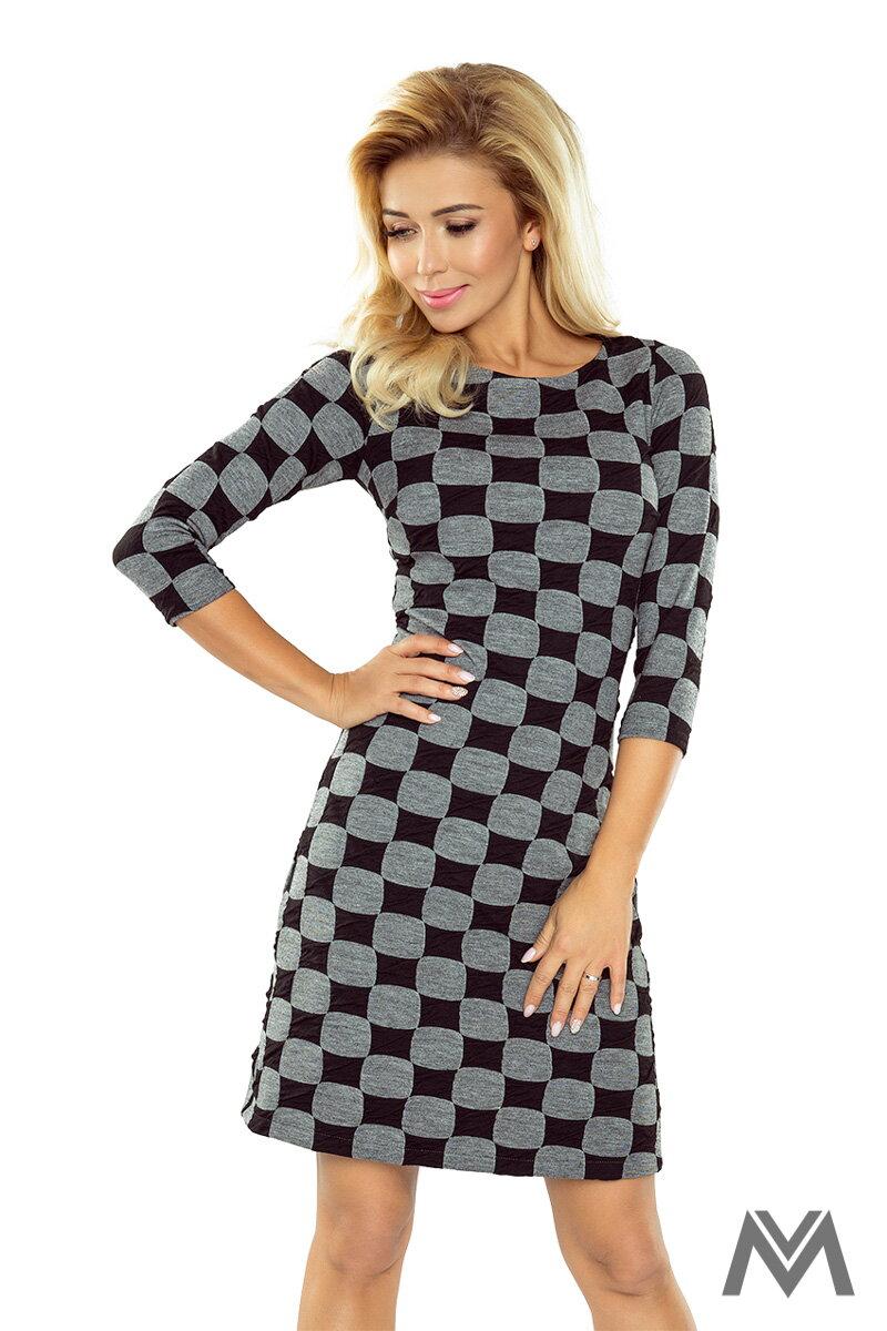 98b21b26168a Zaujímavé šaty s kockami v štýle šachovnice 164-1