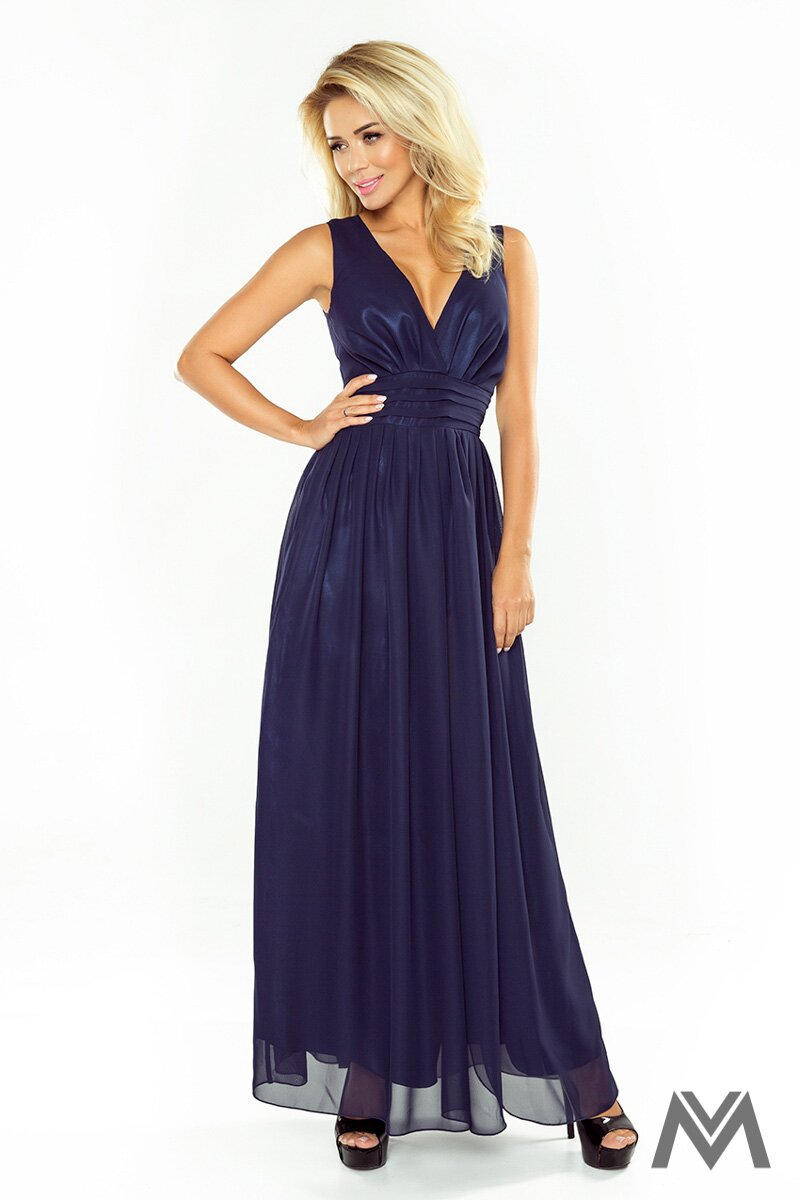 Dlhé večerné šaty v tmavomodrej farbe 166-1 162a8006177