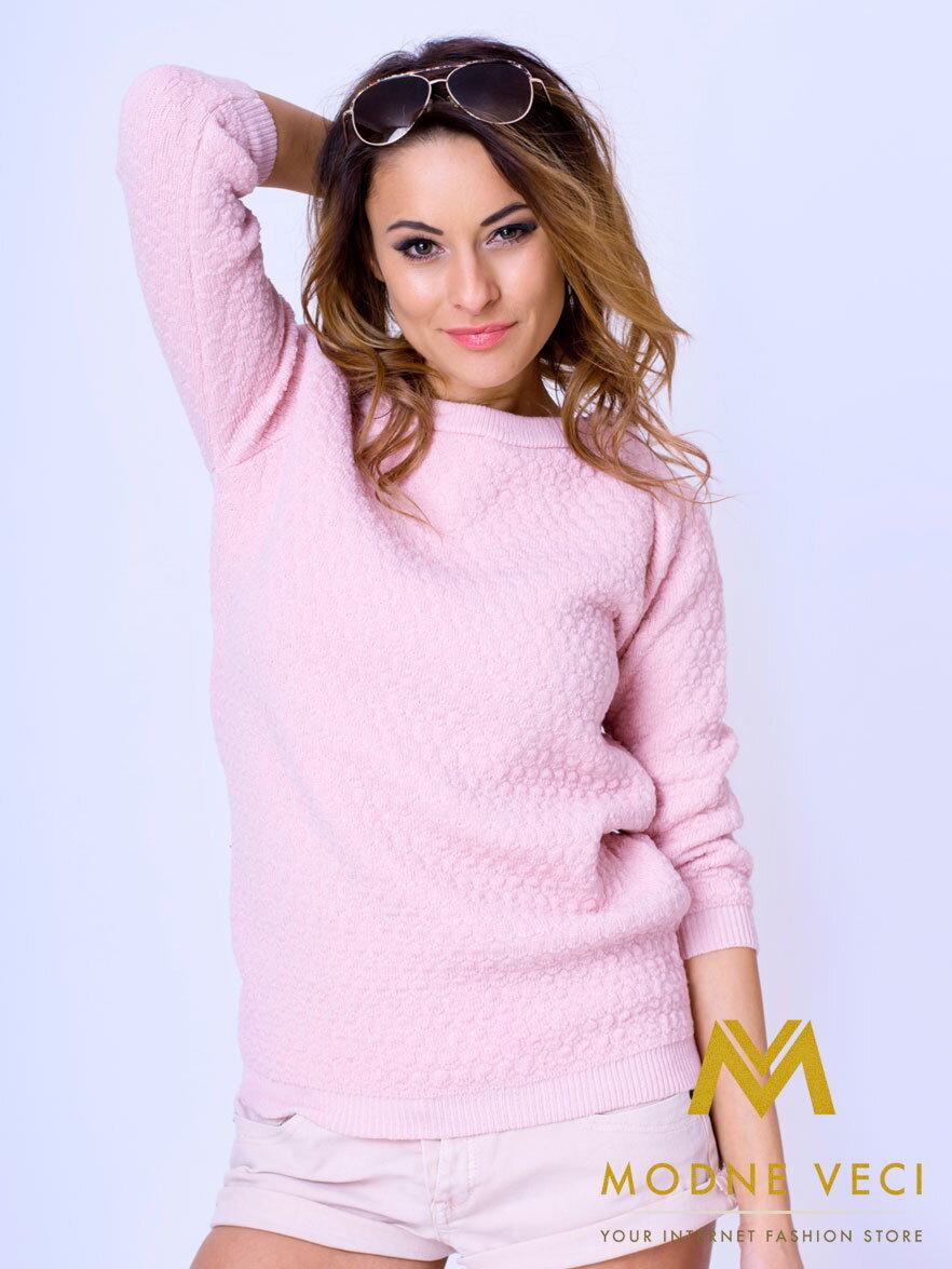 acf3b1667dd5 Štýlový dámsky sveter MAYA - ružový
