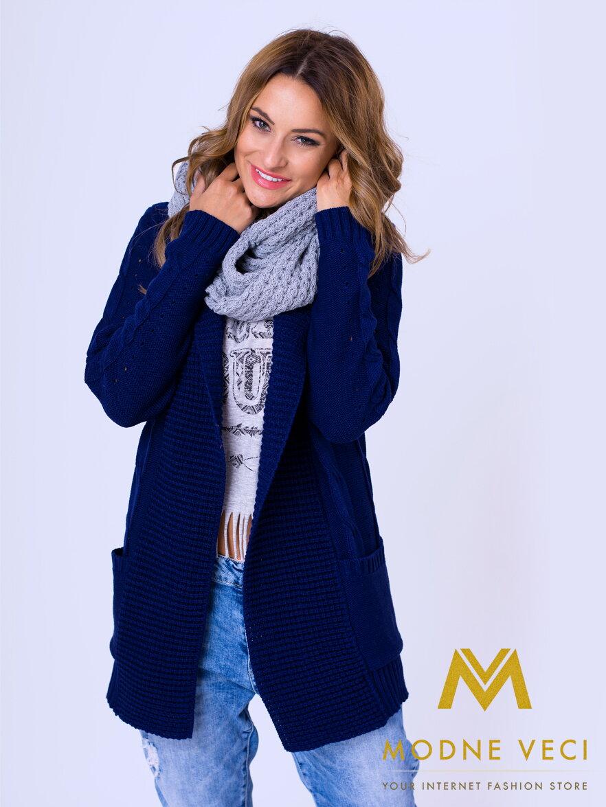 da525e4edc19 Krásny dámsky kardigán Wera - tmavo-modrý