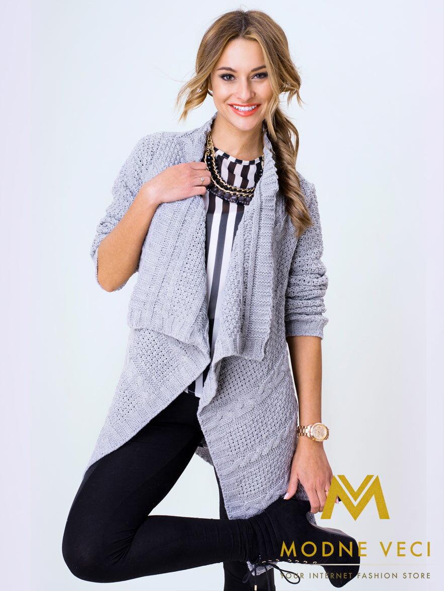 7c73c10a18e9 Trendový šedý kardigán pre doladenie vášho moderného outfitu ...