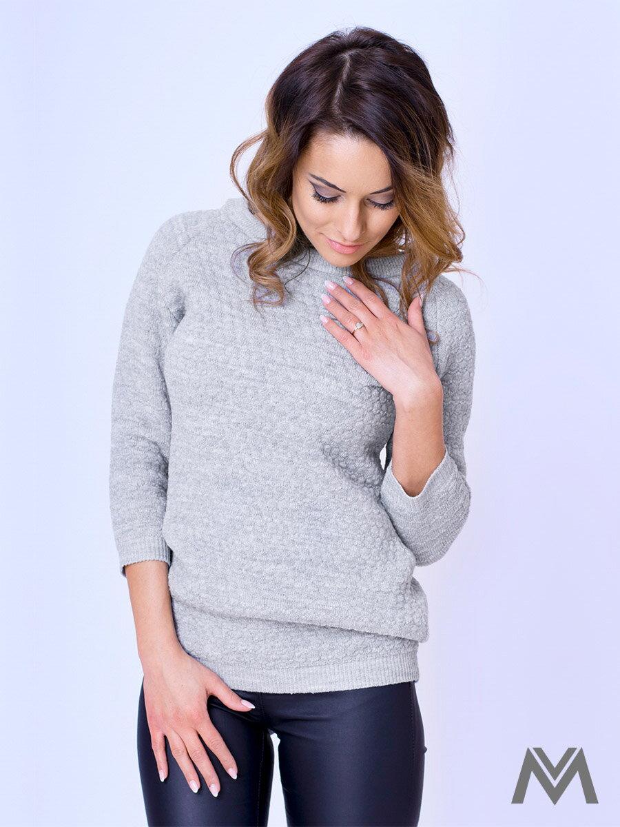 52daf7a71158 Štýlový dámsky sveter MAYA - sivý