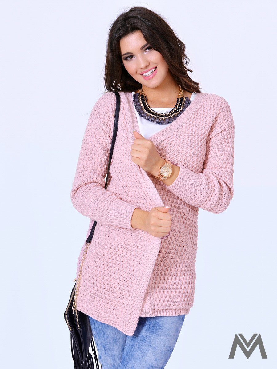 e96d5e6dc41c Dámsky sveter JOE púdrovo ružový
