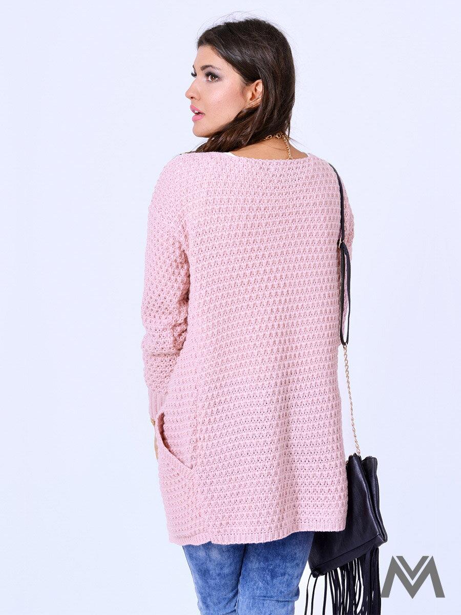 ff94a13a0df2 Dámsky sveter JOE púdrovo ružový ...